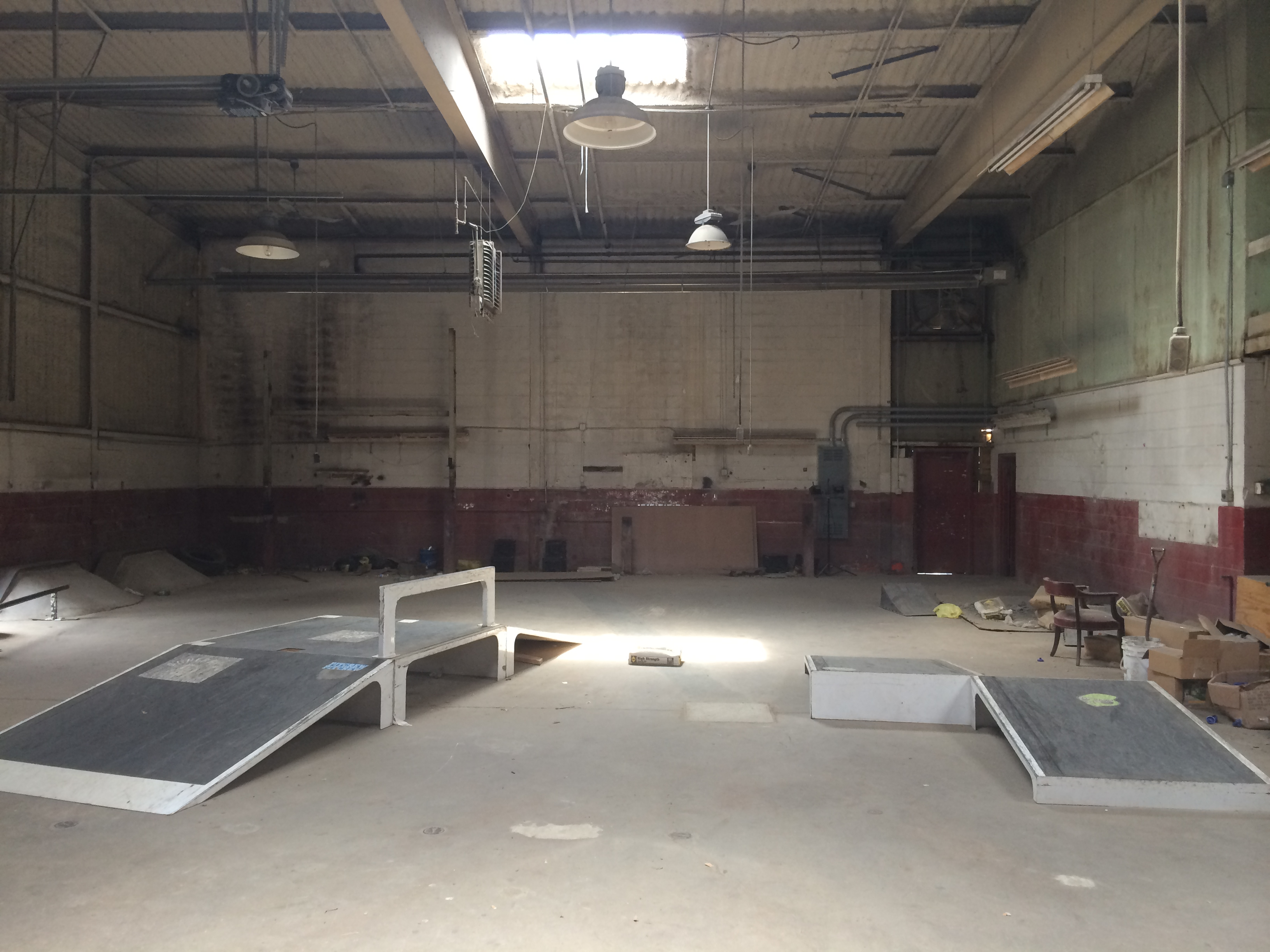 A warehouse would provide the space we needed, if we could just find the right one. This was one of the earliest we considered, but it was pretty remote and security was an issue.